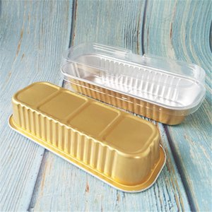 100 Stücke Antihaft-Alufolie Essen Schüssel Kuchen Brot Form Mittagessen Toast Container Aluminiumfolie Obst Käse Box Frühstück Container