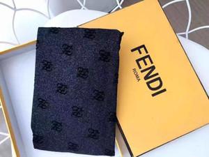 Com caixa de varejo cheio FF longa carta Meias Transparente luxo Meias Europa e América Moda Silk Stockings Sexy For Women A9