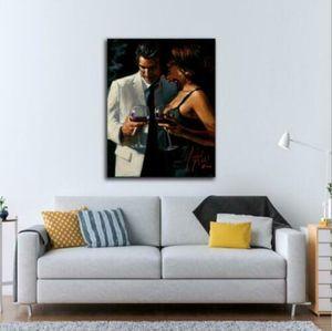 Fabian Perez menina Sussurro moderna da arte da pintura decorativa Home Decor Oil Painting On Wall Art Canvas Canvas 200807