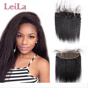 Ear To Ear Malaysian 13X4 Lace Frontal With Baby Hair 13x4 Lace Frontal Kinky Straight Lace Frontal 100% Unprocessed Virgin Human Hair