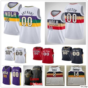 Printed Custom NewOrleansPelicnas 2 Ian Clark 8 Jahlil Okafor 10 Jaxson Hayes Nickeil 0 Alexander-Walker Basketball Jerseys