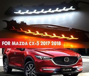 마즈다 CX-5 CX 5 2017 2018 12V LED DRL 주간이 흐르는 전원을 켜고 신호 스타일의 릴레이와 빛 안개 램프 장식을 실행하기위한 2 개