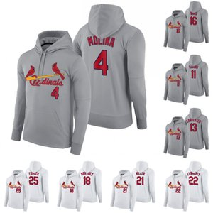 Saint-Louis 2020 Hoodie Yadier Molina Paul DeJong Matt Carpenter Kolten Wong Carlos Martinez Jack Flaherty Dexter Fowler Sweat de base-ball