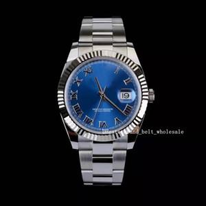 Лавочник рекомендую высокое качество ASIA 2813 Движение DEATYJUSTI II 41 мм Стальная золото Голубая римская цифра циферблат мужские часы 126334 Blro Мужские часы