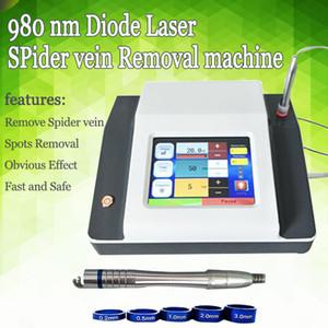 980nm Terapia vascular Sistema de eliminación de venas de araña Sistema de eliminación de vasos sanguíneos Máquina de eliminación de venas con láser de diodo 980nm Rejuvenecimiento de la piel