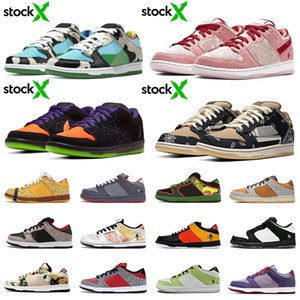 stock x chunky dunky sb dunk low travis scott ben and jerrys dunk Safari Raygun What the Dunks men women casual shoes trainers