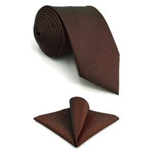 """F32 Red Solid Mens Necktie Set Fashion Groom Ties for male 63"""" Wedding Hanky Party"""