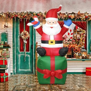 1.8m Santa Claus pupazzo di neve gonfiabili giocattolo All'aperto decorazioni di natale per il giardino domestico Yard Arch Ornamento Festival puntelli del partito