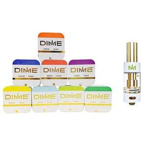 Premium DIME Cartridge Vape Cart Big Diameter 0.8ML Tank Ceramic Coil Thick Oil 510 Vaporizer Atomizer Muha Med