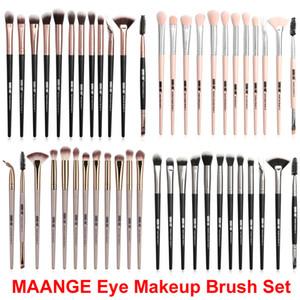 Maquiagem Escova Set Foundation Foundation Eye Shadow Brushes Eye 12 Pcs Sobrancelha EyeyLiner Eyeliner Blending Escova Maange Escovas Cosméticas Make Up Kit