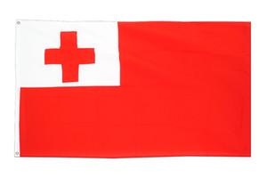 Großhandelsfabrikpreis 100% Polyester 90 * 150 cm 3 * 5 TFS ton Tonga Fahne für Dekoration