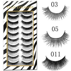 10 pairs Natural Handmade Eyelashes 3D Mink False Eyelashes Extension Eye Makeup Soft Ultra-Wispies Long Fake Lashes Beauty Tool