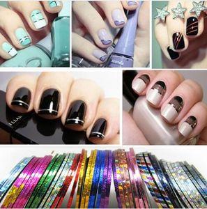 Все для ногтей 30pcs / комплект Разметка Tape Line Nail Art украшения наклейки DIY ногтей наклейки цвет смешивания Рулоны