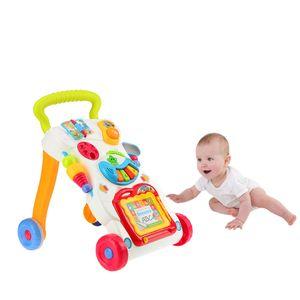 Alta calidad Juguetes Andador Multifuctional del niño de la carretilla Sit-a-Coloca ABS Musical Walker, con Tornillo ajustable para el niño