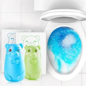 WC Cleaner bonitos da bolha azul Urso 3D Cleaners filtro Desodorante Detergente Líquido Helper água