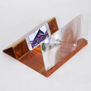 Stereoscopico Amplificazione 12 Pollice Desktop Staffa Di Legno Del Telefono Mobile Magnifier Screen Magnifier Holder Mount NANO CINEMA