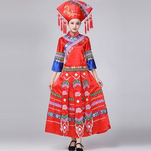 New Mongolian-Kleid-Frauen der Inneren Mongolei Tanz mongolische Robe Adult Ethnic Minority China Performance-Bekleidung