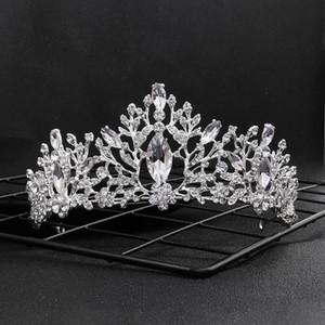 Ювелирные изделия Vintage ручной сплава тиары Rhinestone женщин оголовье барокко Принцесса Диадема невесты Свадебные аксессуары для волос X