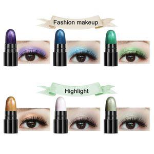 New 12pcs Glitter Eyeshadow Pen Set Shimmer Highlighter Eye Shadow Cosmetics SCI88