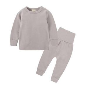 infantil aquecimento de veludo set Underwear roupa sólidos da cor das crianças Qiu Yi Qiu calças de algodão camisola de algodão de outono serviço de casa e do inverno