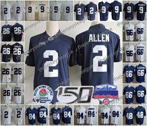 Penn State Nittany Lions #2 Marcus Allen 4 Scott 9 McSorley 26 Saquon Barkley 66 McGovern 84 Wilson Белый Синий Футбол Джерси