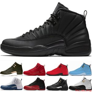 Mens Basketball Shoes XII 12 uomini 12s Nuovo Midnight Black Influenza gioco Michigan in taxi UNY Winterize Designer Trainer Sport Sneaker low cost Size 41-47
