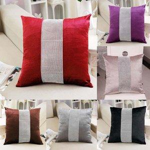 Pillow ome Têxtil fronha decorativa Caso flanela Diamante Patckwork simples moderno Lance Tampa Pillowcase Party Hotel Home Textile 45 ...