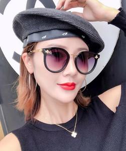 Kadınların En Kaliteli göz için Kadınlar Tasarımcı Güneş Moda Stil Karışık Renkli Retro Yuvarlak Çerçeve dava ile UV Koruma Mercek 0061S gözlük