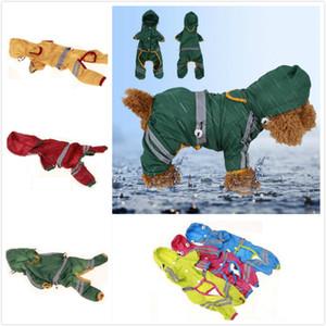 Impermeabile del cane Pet protezione vestiti giacca impermeabile con striscia riflettente Piccolo cucciolo del gatto del cappuccio cappotto di pioggia Abbigliamento Cani di piccola taglia