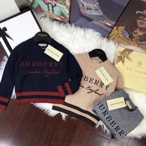 Baby Boy одежда Пуловер Hoodies свитер осень Детская одежды Bark команда Вышитая чистый хлопок с длинным рукавом Вязание