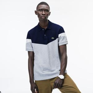 19ss frança designer mens camisa polo t-shirts marca bordado mens polos rua alta moda stripe impressão polo t-shirt fzw75