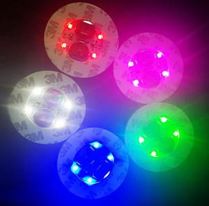Кубок Светодиодные Мат Бар Декор партии Drink Coaster Светящийся LED бутылки Свет бутылки Кубок прославляет LED наклейки Flash Light Up Coaster KKA7920