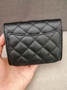 2020 delle donne Fashion Card Holders pelle di agnello trapuntato Flap Portafogli mini Femminile Borse del supporto di carta sacchetti della moneta della borsa