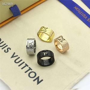 New 2020 Fashion Luxuriöse hochwertige Hohl Designer Schnitzen Ring lv Stamp-Ring für Frauen Männer Schmuck Hochzeit mit Kasten