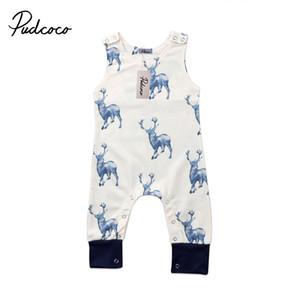 vendita calda Adorable newborn delle ragazze dei neonati ClothesSleeveless pagliaccetto tuta Outfits Abbigliamento bambino 0-24M
