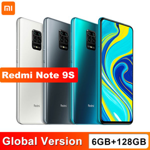 Xiaomi Redmi Note 9S 6 ГБ 128 ГБ глобальная версия смартфона Snapdragon 720G OCTA CORE 5020 MAH 48MP Quad Camera Note 9 S