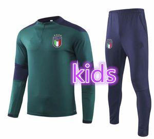 2019 2020 İtalya Futbol Eğitim Suit Çocuklar 19 20 Ulusal Takım Çocuk Insigne Verratti Ghiellini Uzun Kollu Futbol Ceket Kazak Eşofman