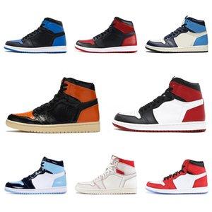 Plus récent venant Cdg X 1 Collab Boucle sangles Tirez Bague Hommes Femmes Chaussures de basket-1S Jumpman Des Garcons Sport Sneakers # QA127
