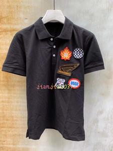 Эксклюзивный новый продукт d2020 весна и лето итальянский модный тренд Поло высокое качество микро-стрейч slim fit мужская рубашка футболка 001