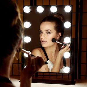 LED retroilluminato Vanity specchio si accendono lampadine Whit Make Up For Hollywood Dressing Table Toliet Bagno Cosmetologia Cosmetic Mirror