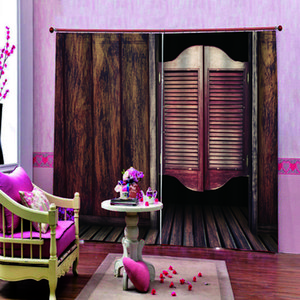 3d curtain brown woods curtains Customized 3D Blackout Curtains Living Room Bedroom Hotel Window curtains