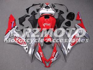 Alta calidad Nuevos kits del carenado ABS en forma para HONDA CBR600RR F5 600RR 2007 2008 07 08 carenados de carrocería conjunto personalizado de plata roja
