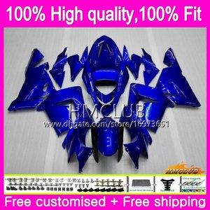 100% della forma di iniezione per KAWASAKI ZX ZX1000 C 10 R ZX10R 04 05 Corpo lucido blu 62HM.12 ZX10R 04 05 ZX1000C ZX 10R 2004 2005 OEM Kit Carena