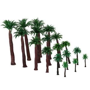 18pcs Çok Ölçer Modeli hindistan cevizi ağaçları HO O, N, Z Ölçeği Manzara
