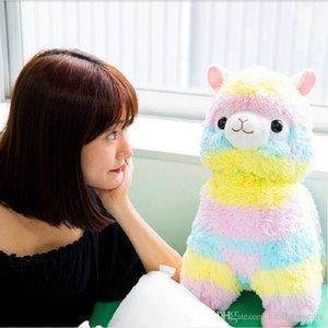 Hot 17cm 30cm Rainbow Alpaca Vicugna Plush Toys Kawaii Alpacasso Stuffed Toys Japanese Stuffed Animals Doll Alpaca Plush Toys