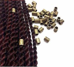 10/20 unids Tubos de Cobre Anillos Pelo Trenza Dreadlock Beads Clips Tubos de Anillo Para Trenzar Accesorios