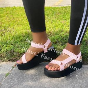 Dress Shoes NouC Whosale 35-43 Platform Sandals Women Beach Handmade Thick Bottom Footwear Outdoor Cusual Slippers Drop Ship