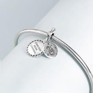 2020 uscita S925 Sterling Silver Harry Potter Serpeverde perle di collana fascino Adatto collana dei braccialetti Pandora europea