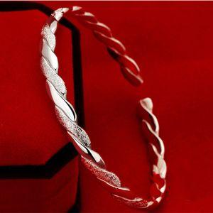 Alta calidad plata de ley 925 brazalete abierto pulsera estilo chino ajustable envío gratuito moda brazaletes joyería de moda
