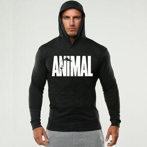 ANIMAL Men's Fitness Wear Gym Clothing، الرجال هوديي طويلة الأكمام، الرياضة الرياضية تي شيرت كم طويل في الخريف والشتاء